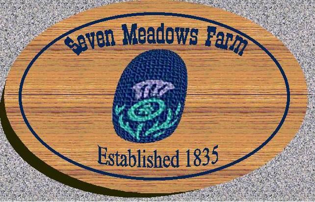 seven meadows farm sign